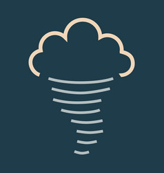 tornado icon simple of tornado icon for web fast vector image