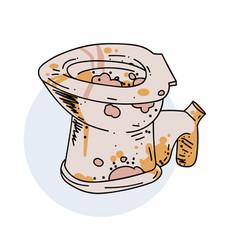 Unclean toilet vector