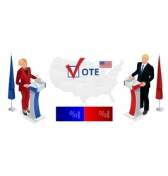 Us Election 2016 infographic Democrat Republican vector