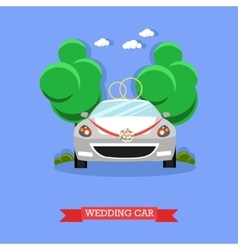 Wedding car - stock vector
