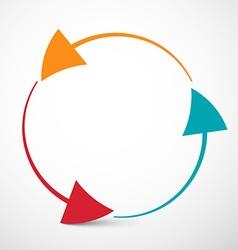 Arrows in Circle - Loop Infinity Symbol vector image