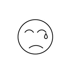 crying emoticon vector image vector image