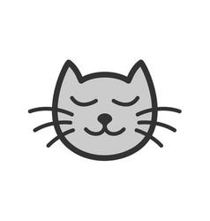 cute calm sleeping cat cartoon vector image
