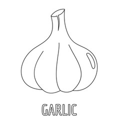 garlic icon outline style vector image vector image