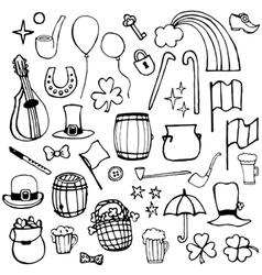 icons symbols Patricks Day vector image