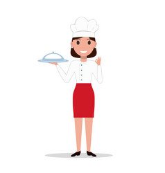 cartoon chef cook woman vector image