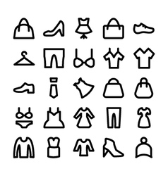 Clothes Icons 2 vector image