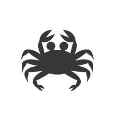 crab cute animal sea little icon vector image