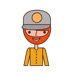 fisherman with hat avatar character vector image vector image