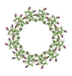 floral wreath with red clover vector image vector image