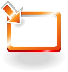 Orange sign with pointing arrow vector image vector image