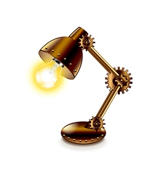 Steampunk lamp isolated on white vector image