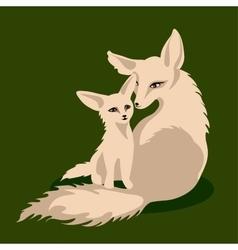 a fox family vector image