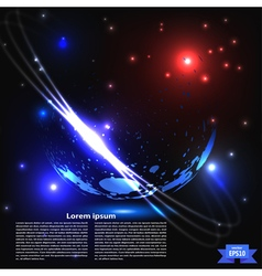 Abstract planet with rings vector image vector image