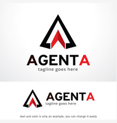 abstract triangle logo template design vector image vector image