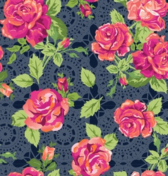 classic lace roses vector image