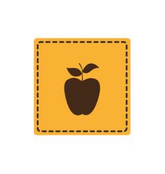 color emblem apple fruit icon vector image
