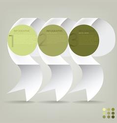 infographic plan ribbon vector image