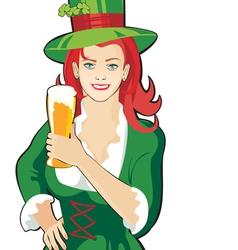 pub waitress beer festival vector image vector image
