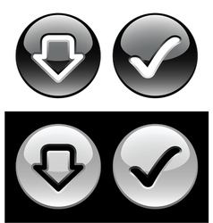 Black and white buttons vector