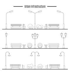 City and outdoor element vector image vector image