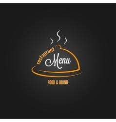 food and drink menu design background vector image