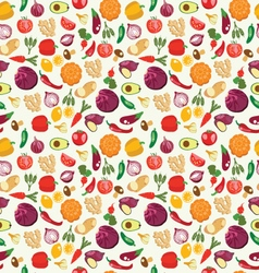 fresh and healthy food Vegetables pattern vector image