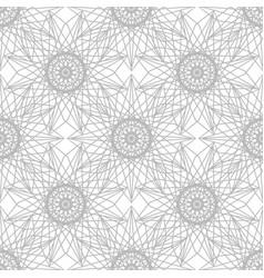 Gray flower pattern seamless vector