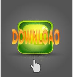icon download and cursor vector image