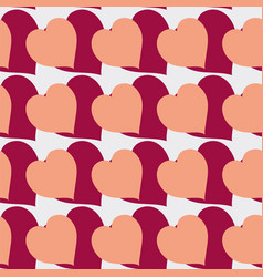 ornament made of many hearts vector image