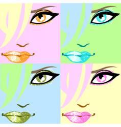 pop art poster vector image vector image