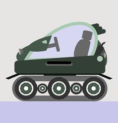 Snow car vector