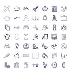 49 black icons vector