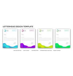 Abstract gradient letterhead design set vector