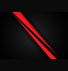 abstract red line slash speed overlap on black vector image