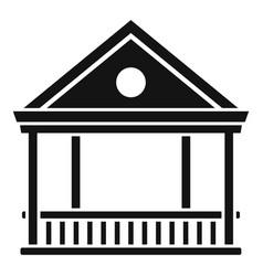 alcove gazebo icon simple style vector image