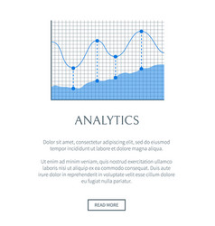 analytics banner colorful vector image