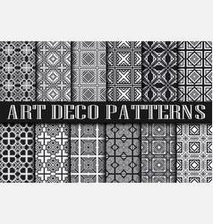 art deco patterns vector image