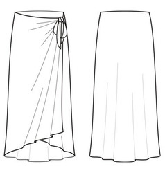 Beach skirt vector
