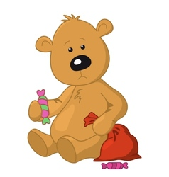 bear with a bag and a sweet vector image