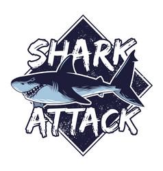 big angry hungry dangerous abstract shark vector image