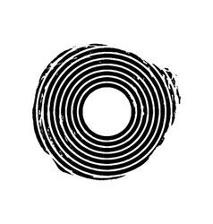 black grunge concentric circle vector image