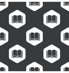 Black hexagon book pattern vector