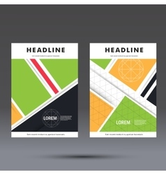 Brochure template with abstract square design vector