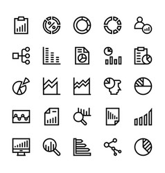 business charts and diagrams line icons 2 vector image