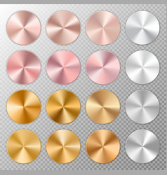 buttons with a metal texture vector image