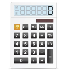 calc white vector image vector image