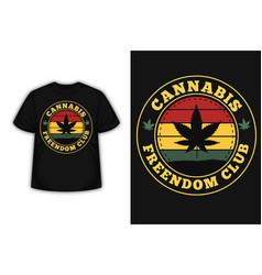 Cannabis merchandise silhouette t-shirt design vector
