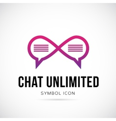 Chat Unlimited Concept Symbol Icon or Logo vector
