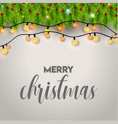 christmas card design with elegant design vector image